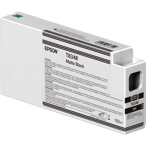 Epson T834800 Matte Black Ink Cartridge, 150 mL