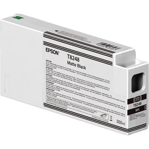 Epson T824800 Matte Black Ink Cartridge, 350 mL