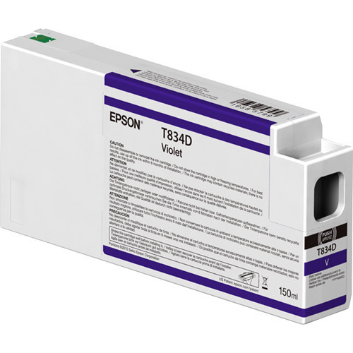 Epson T834D00 Violet Ink Cartridge, 150 mL