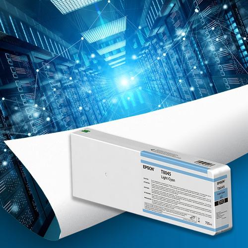 Epson T804500 UltraChrome HD Light Cyan Ink Cartridge (700ml)