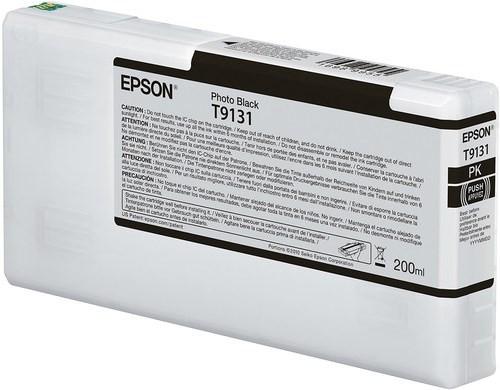 Epson Ultrachrome HD Photo Black Ink Cartridge 200ml for SureColor P5000 Printer - T913100
