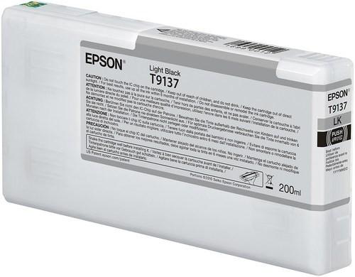 Epson Ultrachrome HD Light Black Ink Cartridge 200ml for SureColor P5000 Printers - T913700