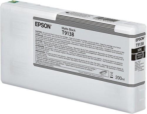 Epson Ultrachrome HD Matte Black Ink Cartridge 200ml for SureColor P5000 Printers - T913800