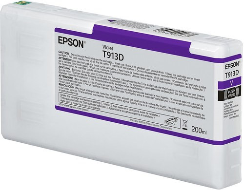 Epson Ultrachrome HDX Violet Ink Cartridge 200ml for SureColor P5000 Printers COMMERCIAL EDITION - T913D00