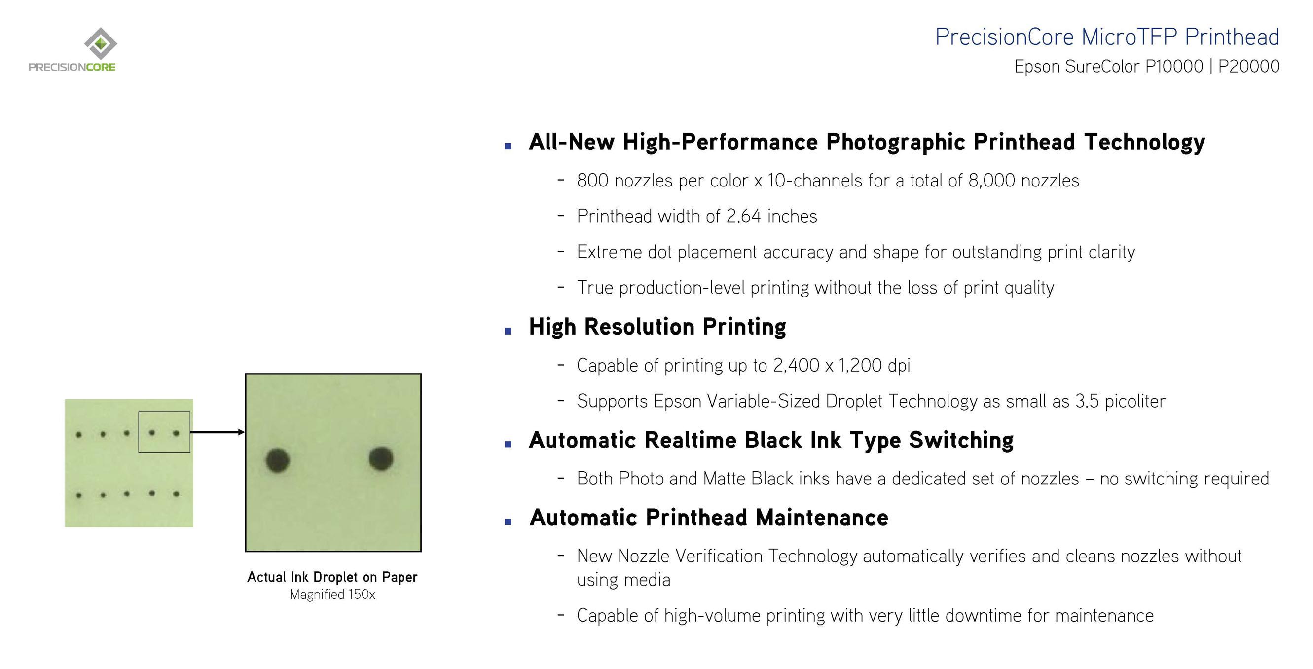PrecisionCore MicroTFP Printhead