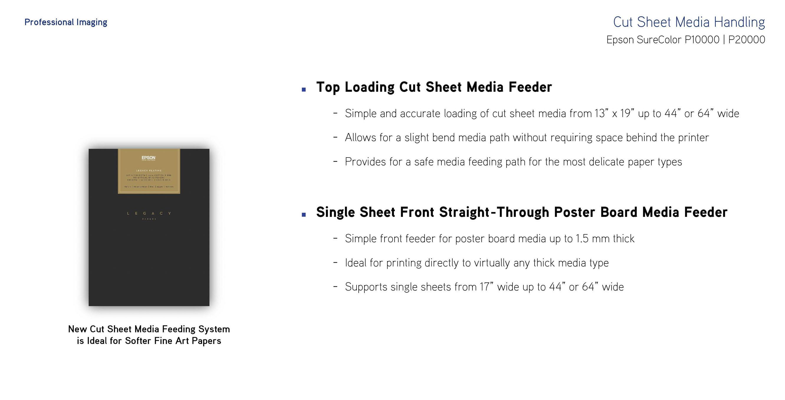Cut Sheet Media Handling