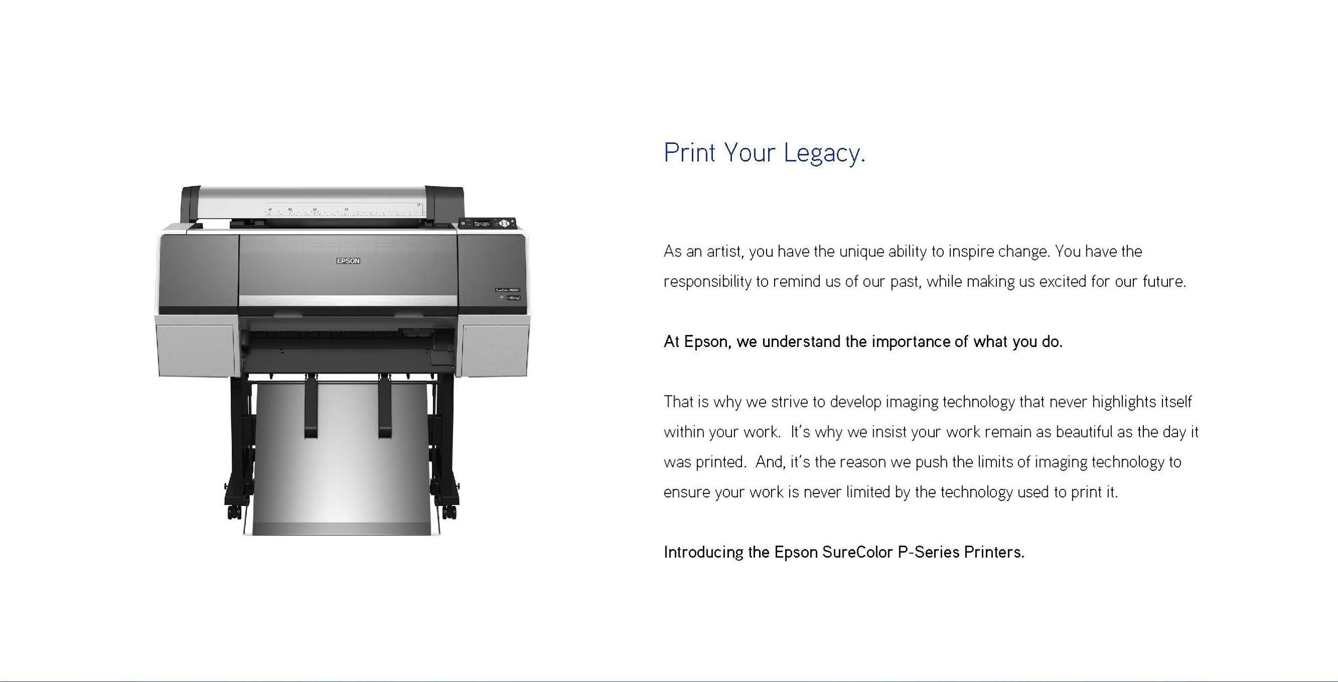 printing your legacy