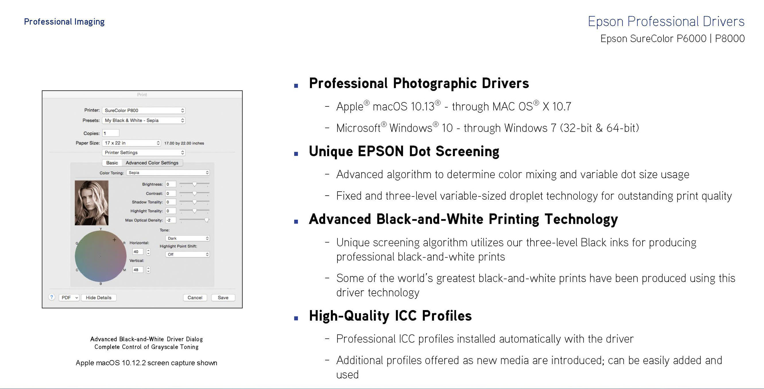 epson professional drivers