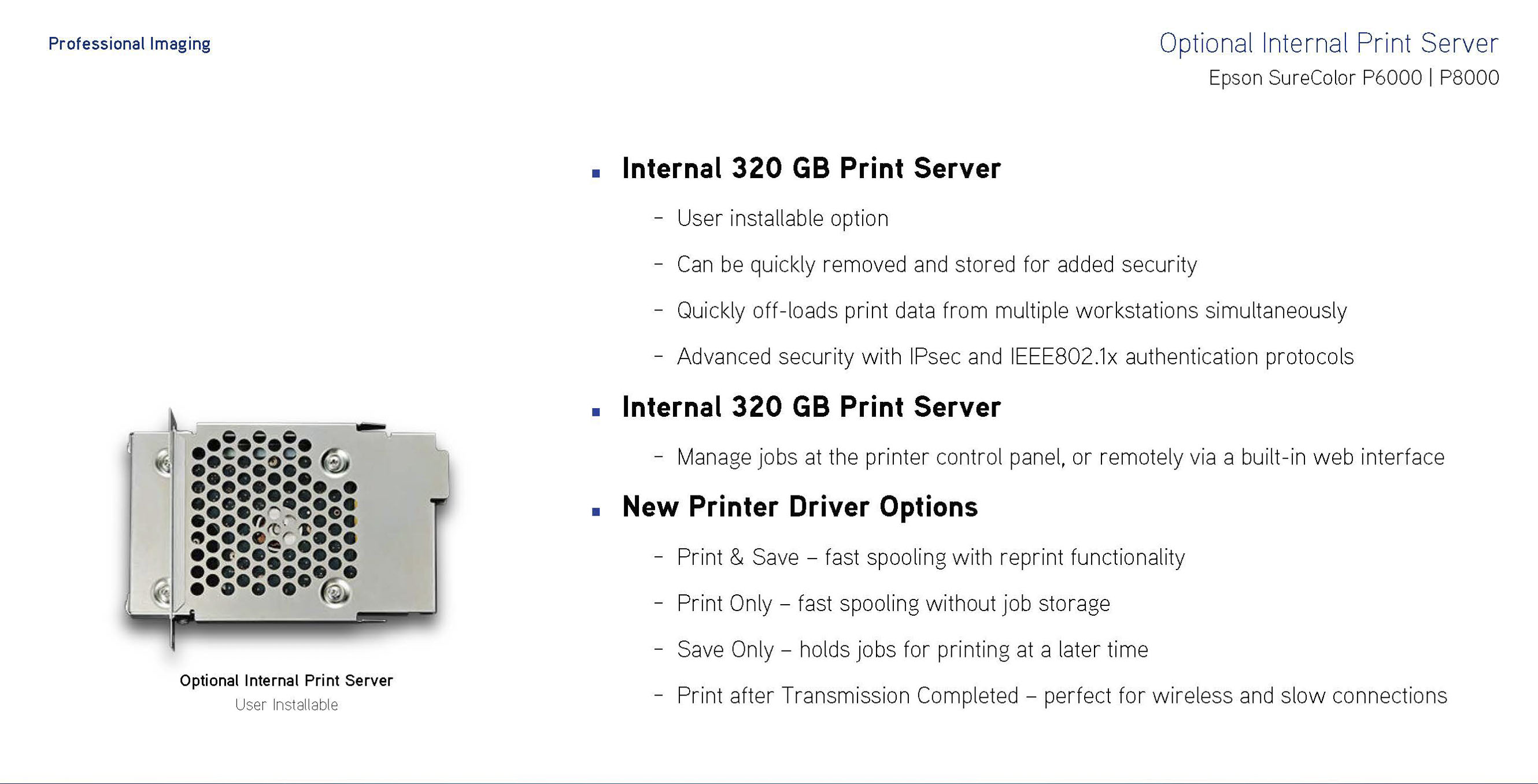 optional internal print server