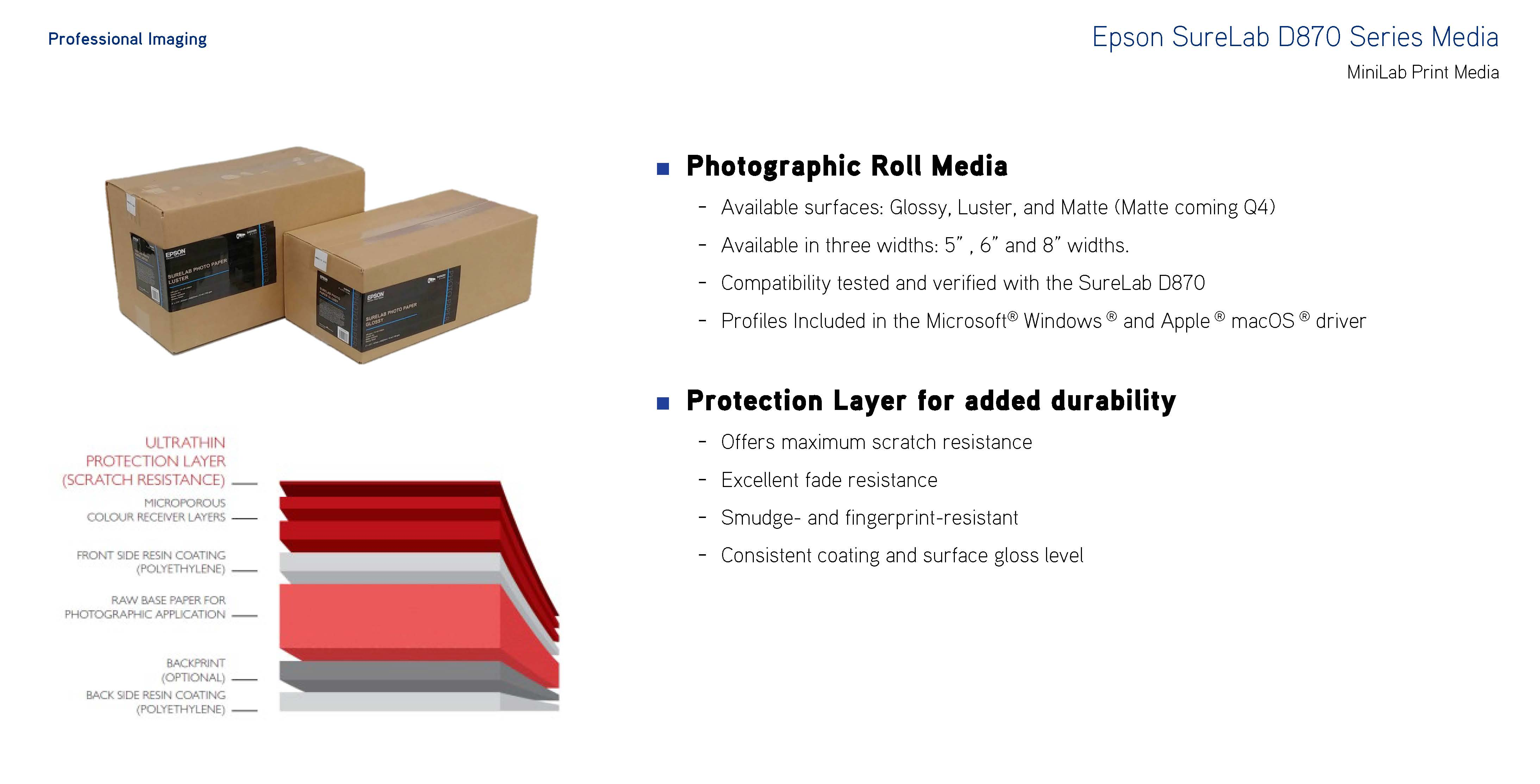 epson surelab D870 series media
