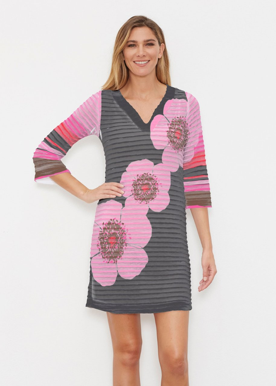 f34148d8fd Whimsy Rose | Banded Coverup Dress | Poppy Black Stripes - Snappy Turtle