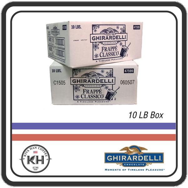 Ghirardelli Double Chocolate Frappe Classico Powder - 10lb. Box