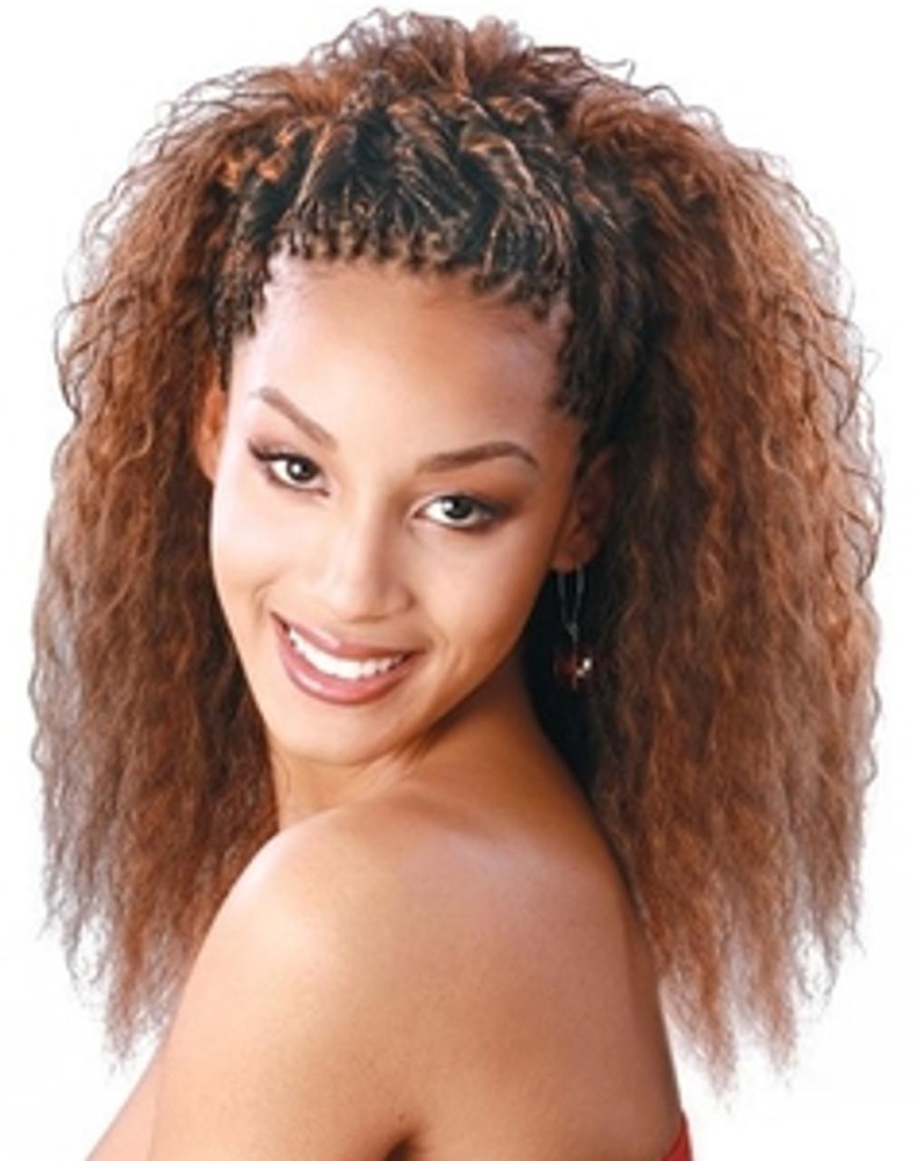 human hair braids wet and wavy