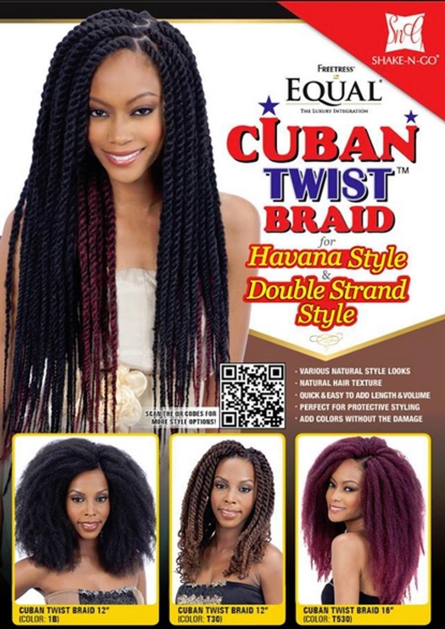 Freetress Equal Cuban Twist Braid 12 Top Hair Wigs