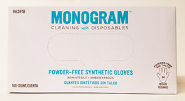 Monogram Medium Synthetic Powder Free Gloves
