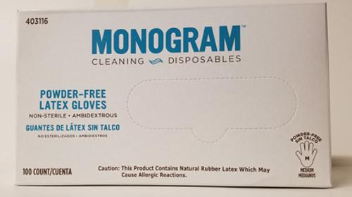 Monogram Medium Powder Free Latex Gloves