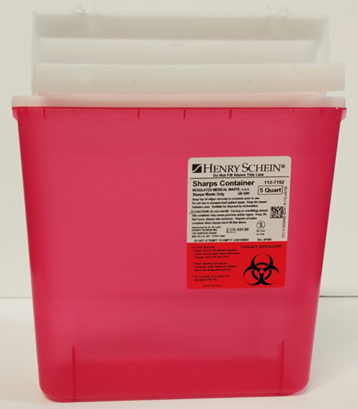 5 Quart Red Sharps Container