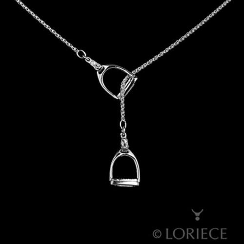 English Stirrups Horse Lariat Necklace
