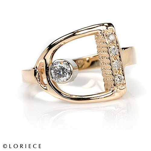 Diamond English Stirrup Ring
