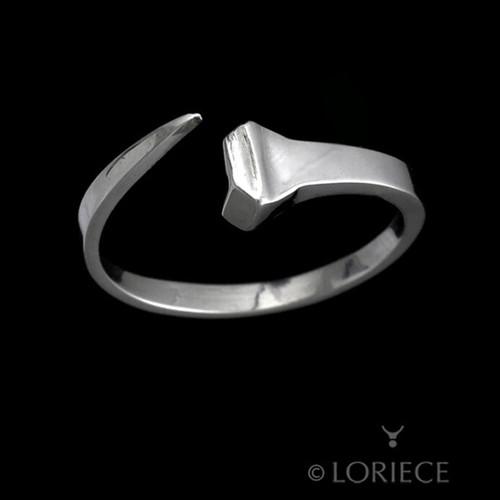 Equestrian Horseshoe Nail Ring