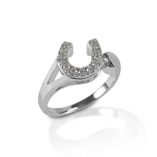 Kelly Herd Offset Horseshoe Ring - Sterling Silver