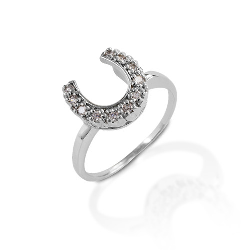 Kelly Herd Horseshoe Ring - Sterling Silver