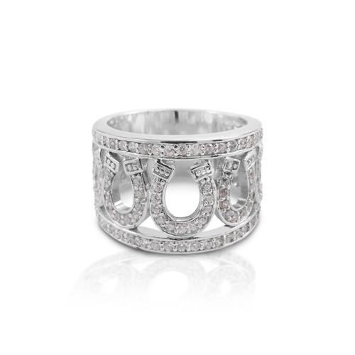 Kelly Herd Seven Horseshoe Ring - Sterling Silver
