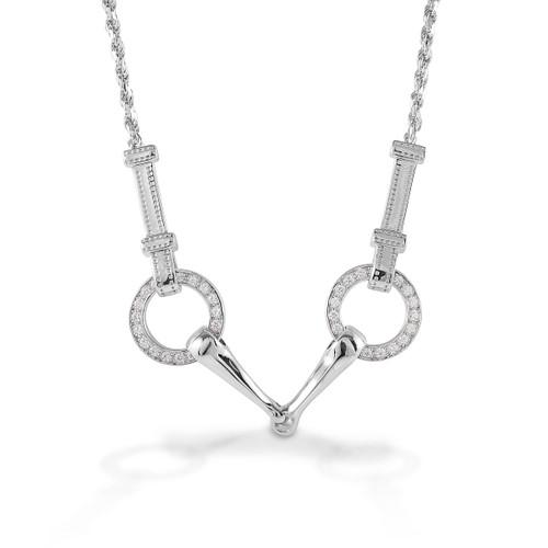 Kelly Herd Snaffle Bit Necklace - Sterling Silver