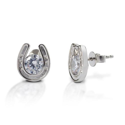 Kelly Herd Horseshoe Stud Earrings - Sterling Silver