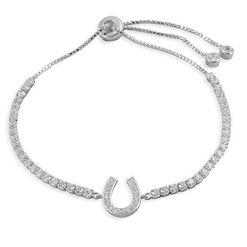 Kelly Herd Horseshoe Bolo Bracelet - Sterling Silver