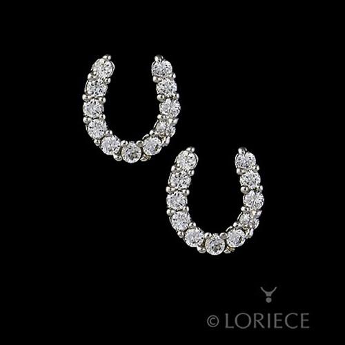 Horseshoe Earrings With Cubic Zircons