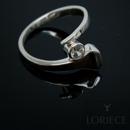 Horseshoe Nail Ring with Stone