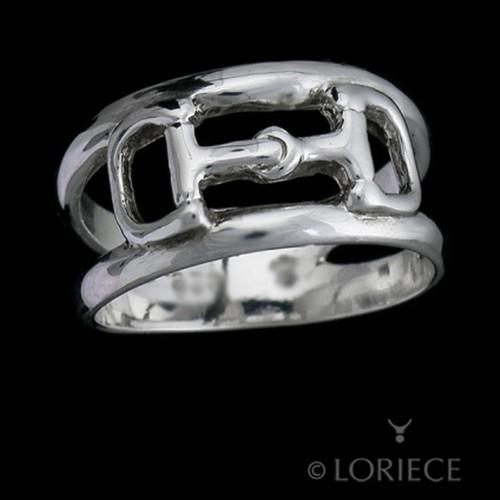 Horse Dee Bit Split Band Ring
