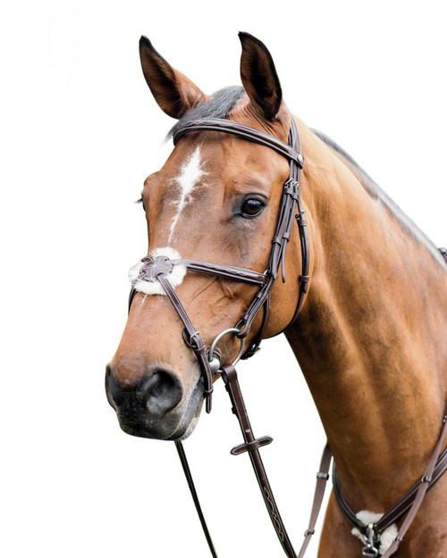 Prestige Leather Bridle with Mexican Noseband: E80