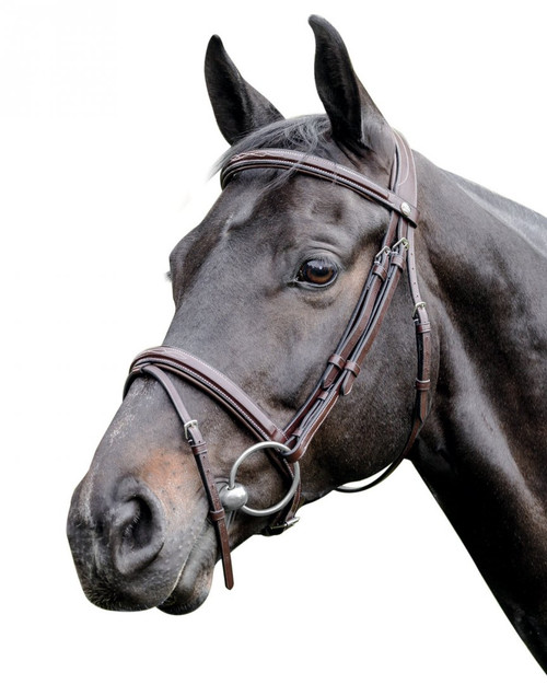 Prestige Leather Raised Bridle with Stitching: E83