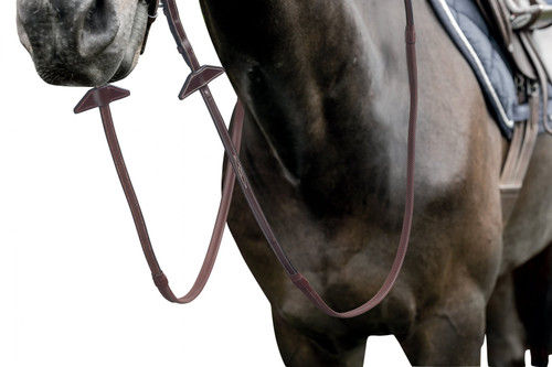 Prestige 16mm Rubber Grip Reins with stitching for Bridle E141-E143