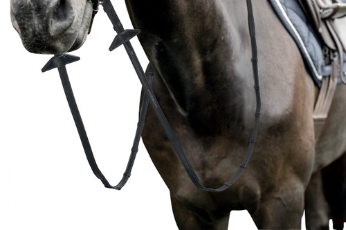 Prestige 16mm Ultra-thin Rubber Reins with 7 stoppers and stitching for Bridles E141-E143