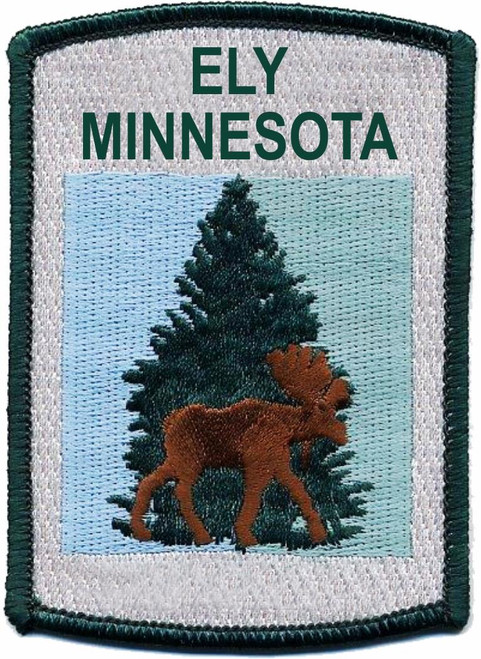 Patch - Ely MN Moose & Pine Rectangle Patch -