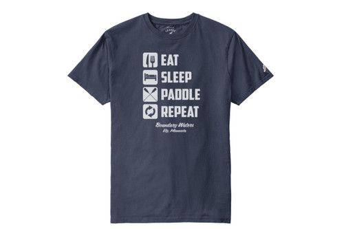Eat Sleep Paddle Repeat T-shirt - 190136607942