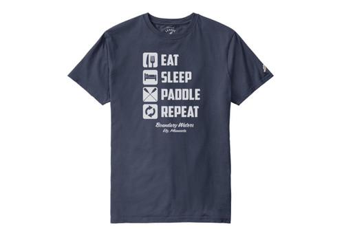 Eat Sleep Paddle Repeat T-shirt - 190136607942