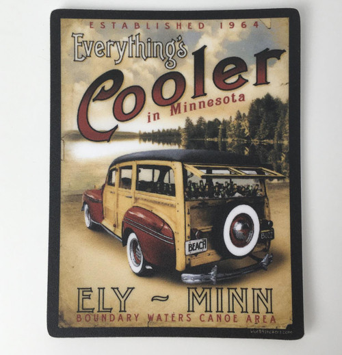 Sticker - Everythings Cooler In Minnesota - Rectangle -