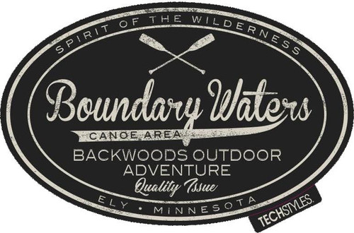 Sticker - Boundary Waters Backwoods Oval -