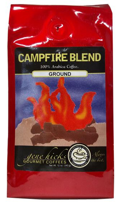 Gene Hicks Coffee Campfire Blend / Ground - 12oz bag - 751339060684