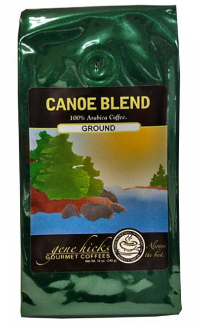 Gene Hicks Coffee Canoe Blend / Gound - 12oz bag - 751339060660