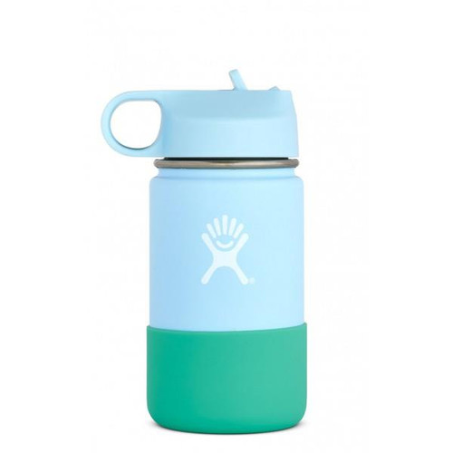 Hydro Flask 12oz Wide Mouth Bottle with Straw Lid - Frost - 810911034069