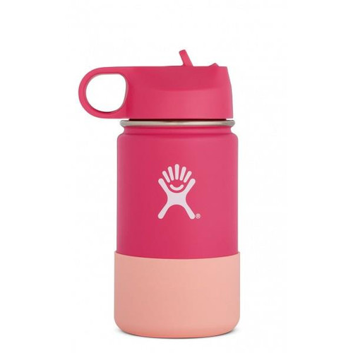 Hydro Flask 12oz Wide Mouth Bottle with Straw Lid - Watermelon - 810911034076
