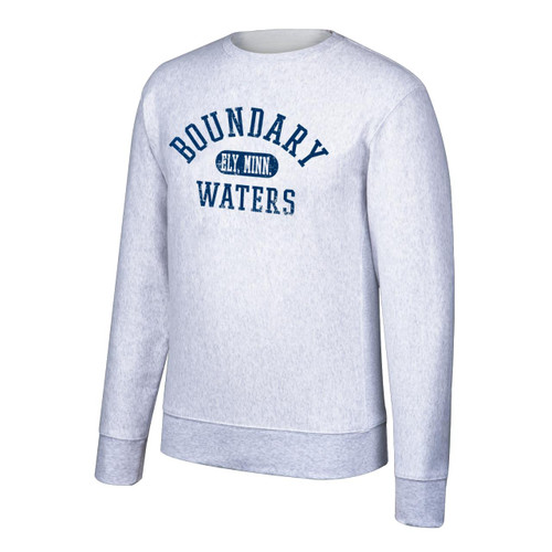 Boundary Waters Crew Sweatshirt with Navy Print - 410003522124