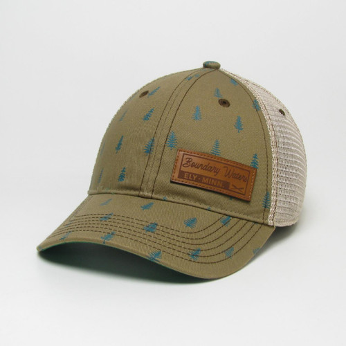 Legacy Boundary Waters Trucker Hat with Pine Tree detail - 190136115973