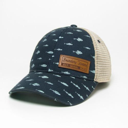 Legacy Boundary Waters Trucker Hat - Navy Fish - 190136115966