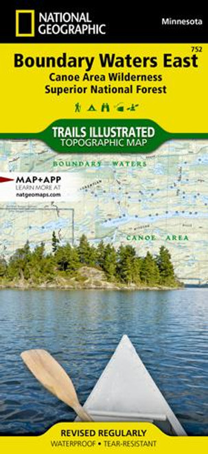 National Geographic Boundary Waters East Map - 749717011663